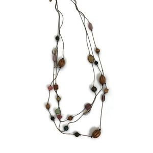 Lia Sophia Multi-Strand Necklace with Beads